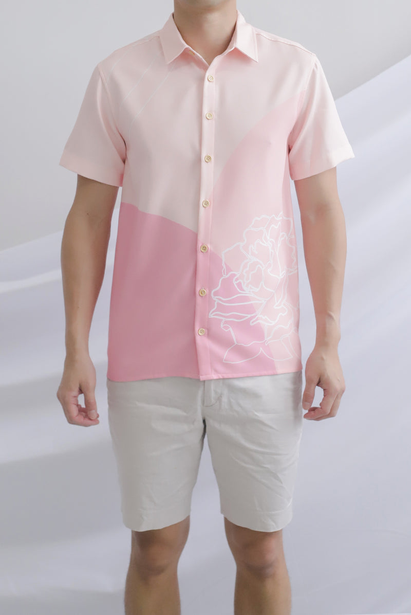 Reunion Buttons Shirt In Pink