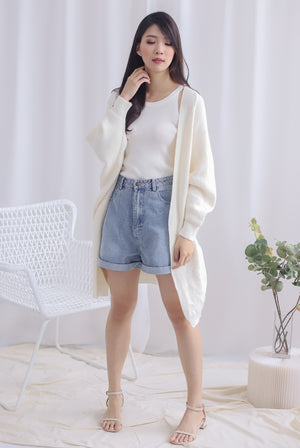 *Backorder* Reverie Long Knit Cardigan In Cream
