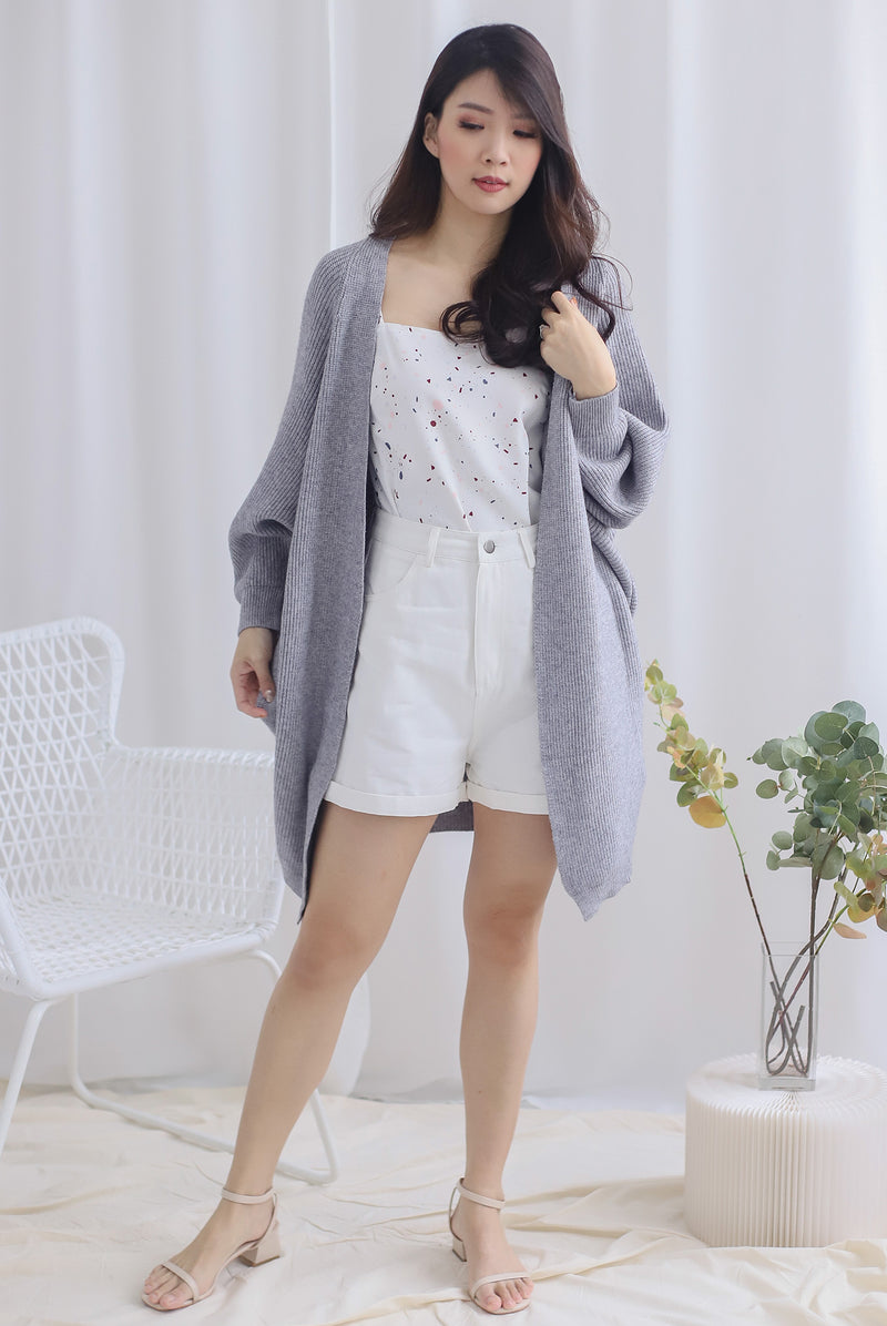 *Restocked* Reverie Long Knit Cardigan In Grey