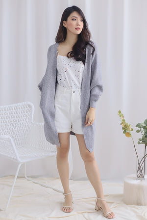 *Backorder* Reverie Long Knit Cardigan In Grey