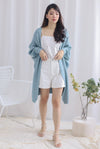 *Backorder* Reverie Long Knit Cardigan In Seafoam