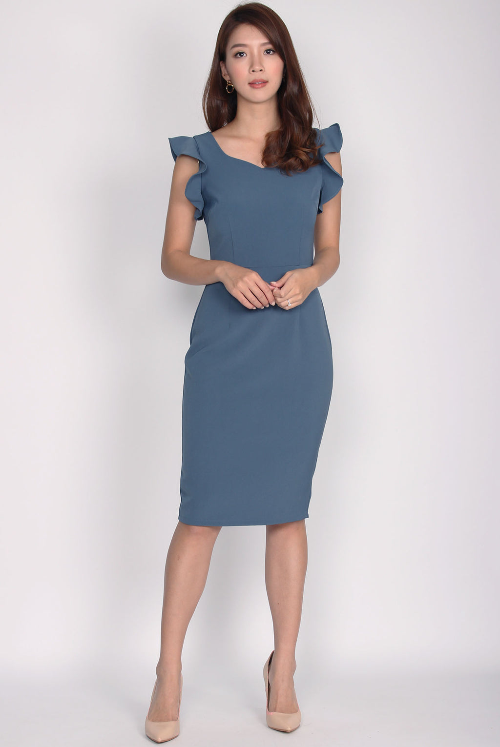 *Premium* Rosaria 2 Ways Sleeve Pencil Dress In Peacock