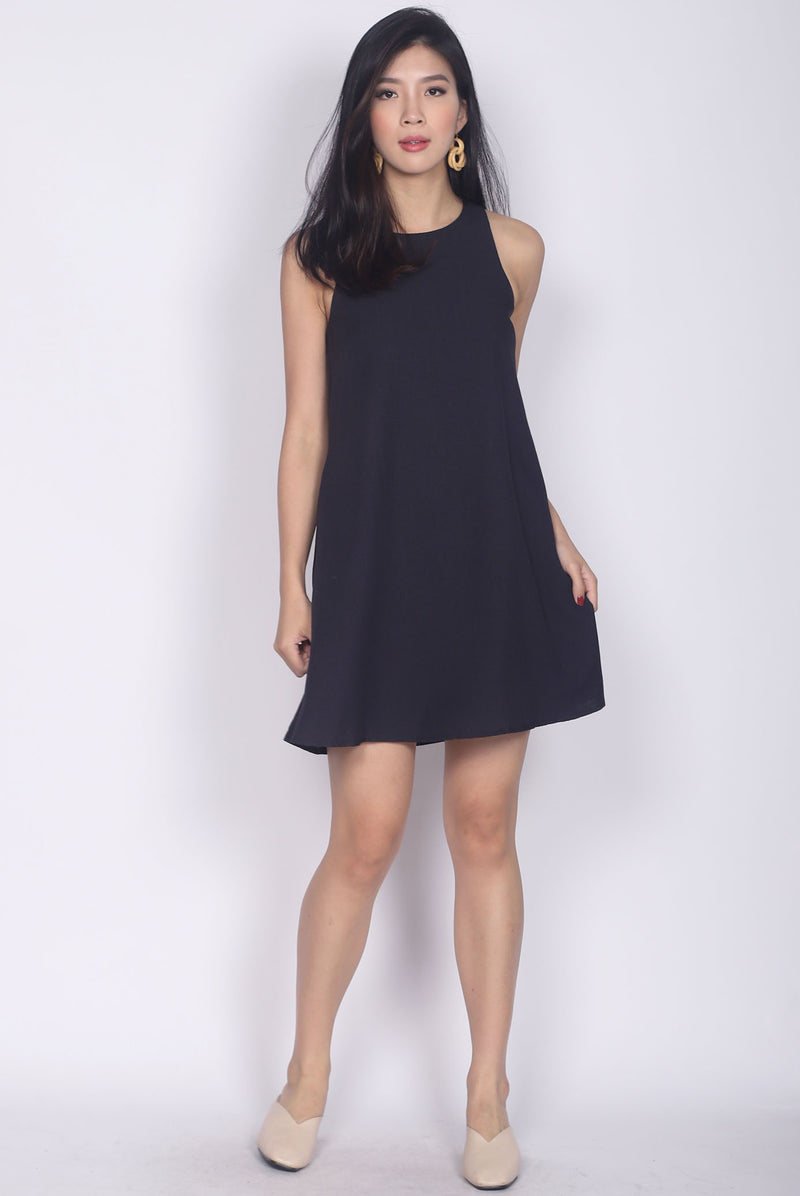Rosewillow Tweed Tank Dress In Midnight Blue