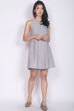 Rosewillow Tweed Tank Dress In Grey