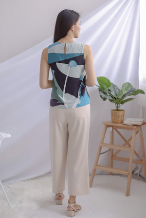Saori Reversible Tank Top In Blue/Navy