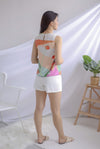 Saori Reversible Tank Top In Orange/Blue
