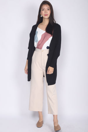 *Backorder* Sherelle Batwing Knit Cardigan In Black