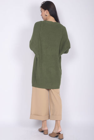 *Restocked* Sherelle Batwing Knit Cardigan In Olive