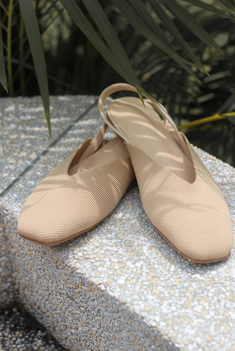 *Preorder* Regan Slingback Shoes In Nude