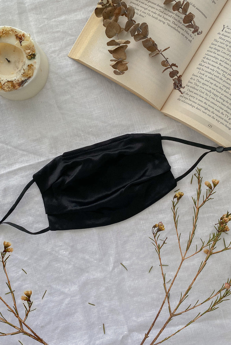 Mulberry Silk Mask In Black