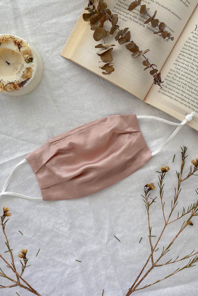 Mulberry Silk Mask In Rose Pink
