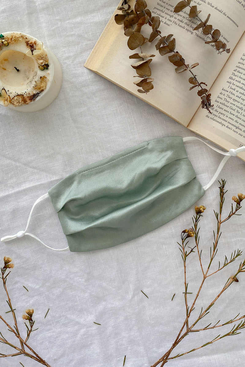 Mulberry Silk Mask In Sage
