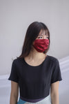 Mulberry Silk Mask In Wine Red