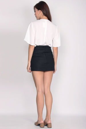 Sofia Buttons Skort In Black