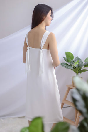 TDC Davina Knot Back Dress In White