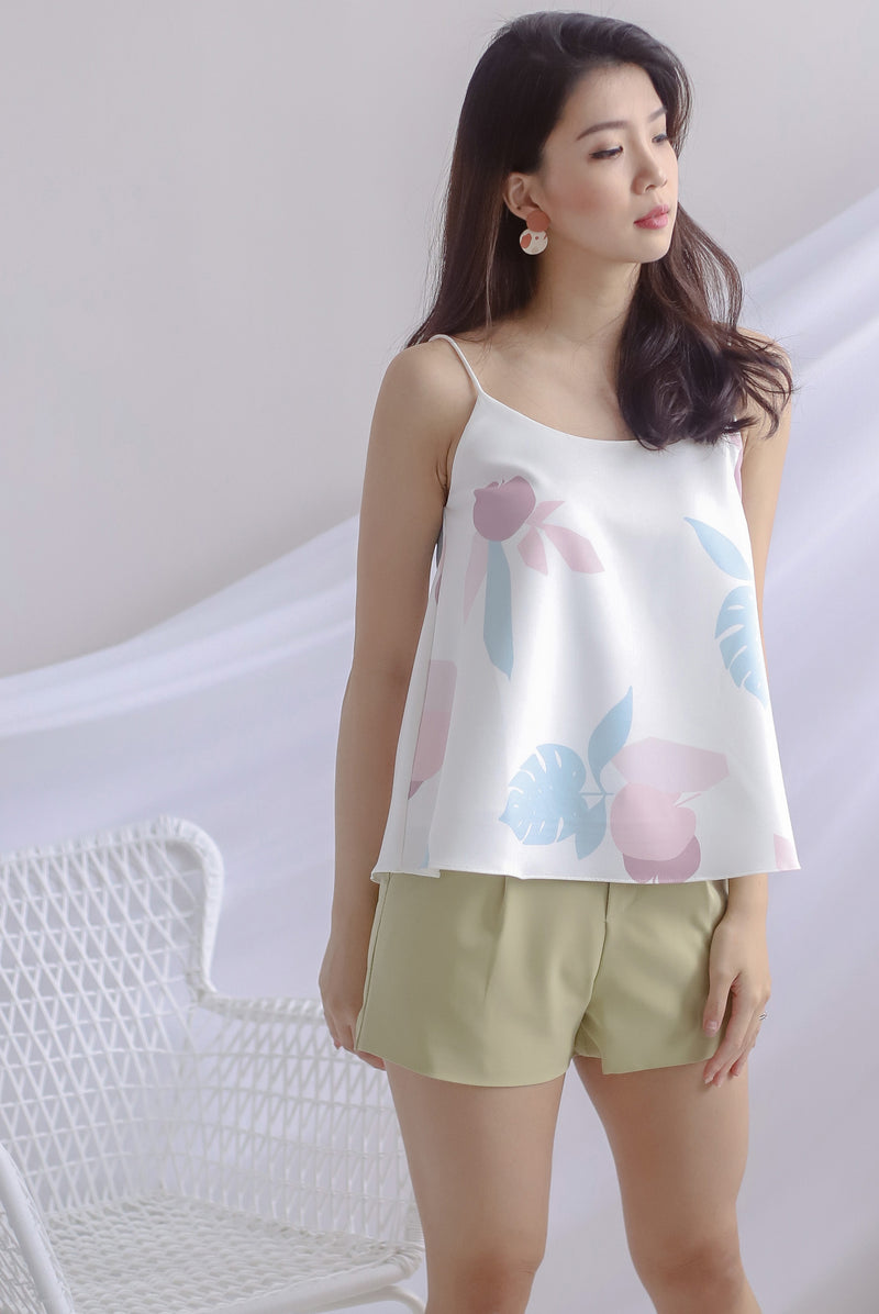TDC Garland Printed Cami Top In Cream