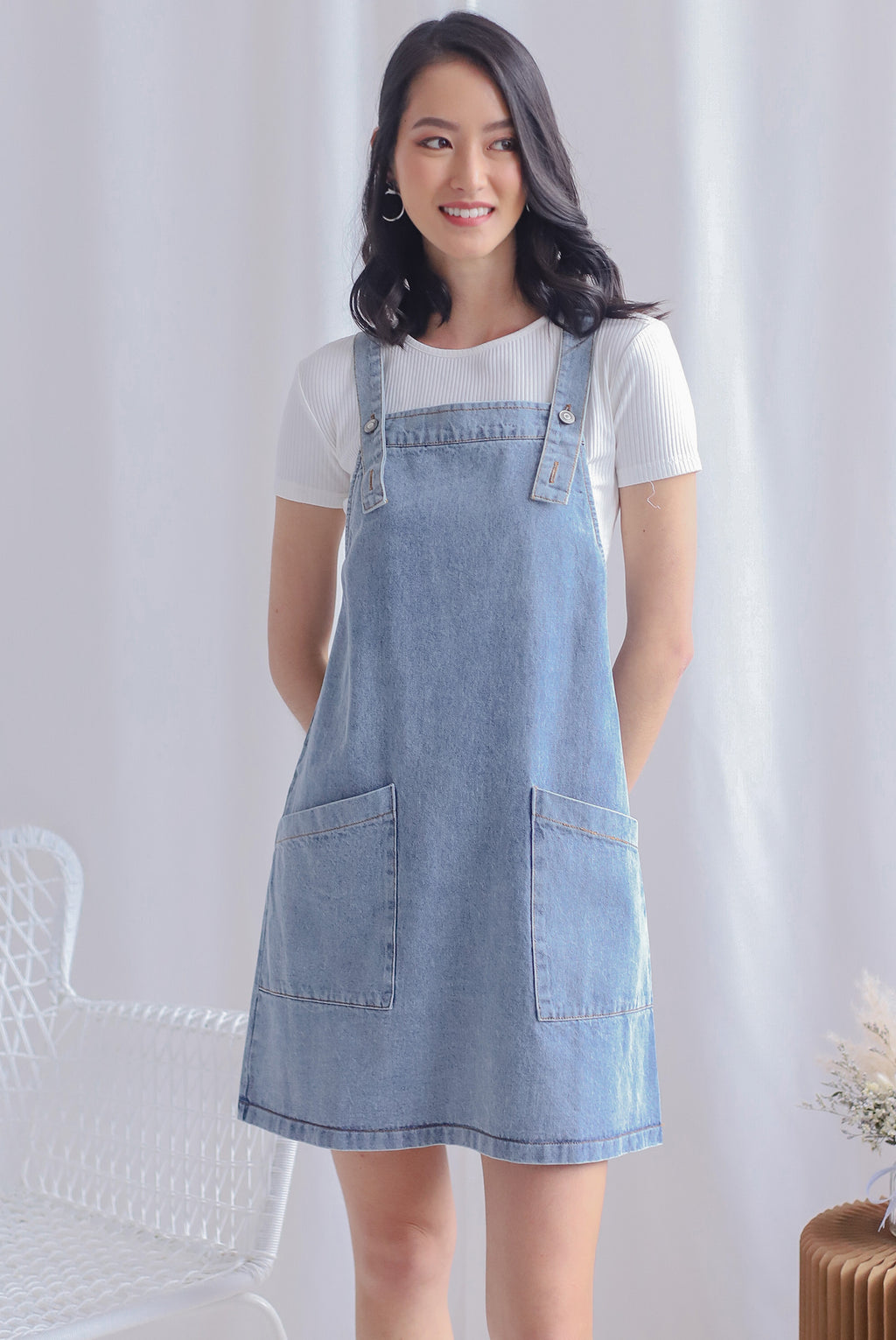 TDC Haislie Denim Dungaree