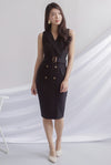 *Premium* TDC Margrete Trench Work Dress In Black