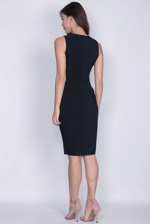 *Restocked* TDC Montrel Classic Midi Dress In Black