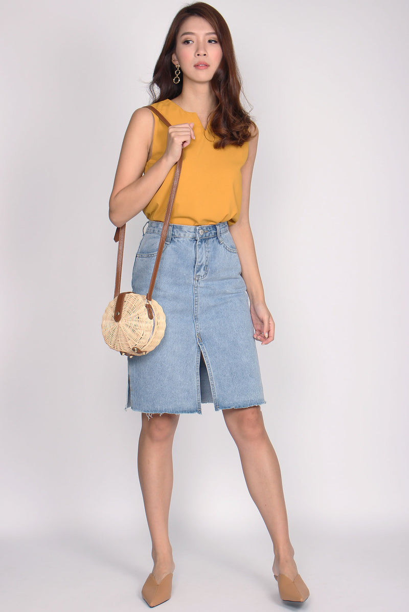 *BACKORDER* Jacqui Slit Side Denim Skirt