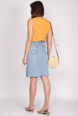 TDC Alesia Tank Top In Mustard