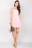 TDC Arista Organza Dress In Pink
