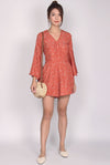 TDC Bettine Bell Sleeve Romper In Rust