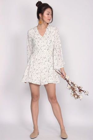 TDC Bettine Bell Sleeve Romper In White