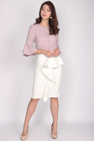 TDC Beyla Bell Sleeve Top In Blush
