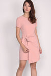TDC Clover Overlap Dress In Blush