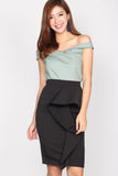 TDC Danielle Peplum Skirt In Black