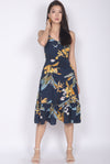 TDC Denaye Hi Lo Mermaid Dress In Navy Blue