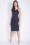 TDC Elisabet Spag Work Dress In Navy Blue