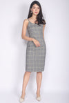 TDC Elisabet Spag Work Dress In Plaids
