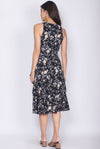 TDC Elyse Ruffle Wrap Dress In Black Floral