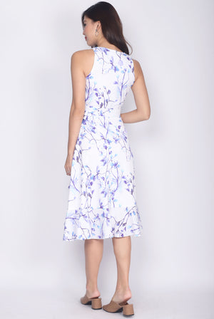 TDC Elyse Ruffle Wrap Dress In Purple