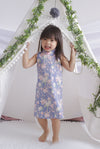 *Kids* TDC Errin Cheongsam Dress In Periwinkle