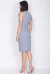 TDC Feronia Tiered Peplum Dress In Ash Blue