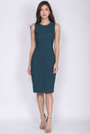 *Restocked* TDC Montrel Classic Midi Dress In Forest Green