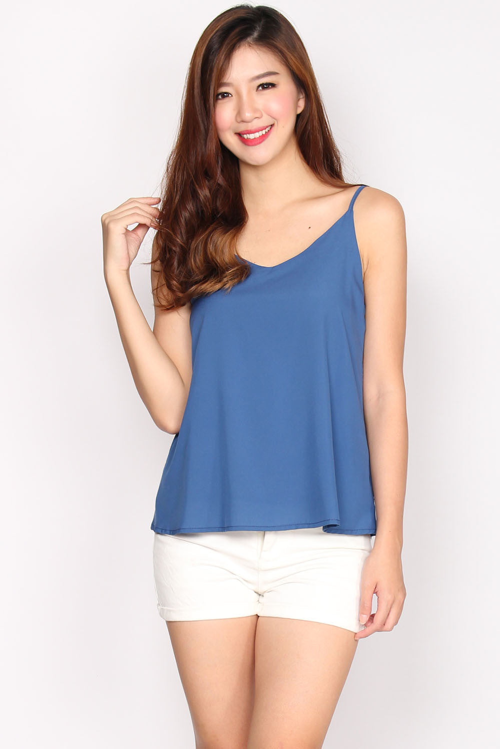 TDC Parris Cami Top In Blue Shadow