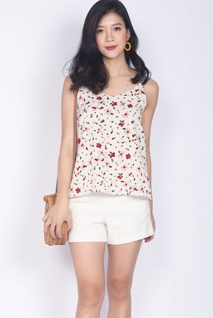 TDC Parris Cami Top In Cream Abstract