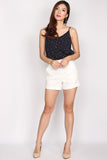 TDC Parris Cami Top In Navy Dots