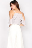 TDC Tottie Drop Shoulder Top In Grey