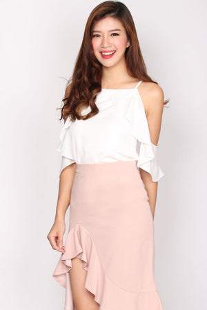 TDC Tottie Drop Shoulder Top In White