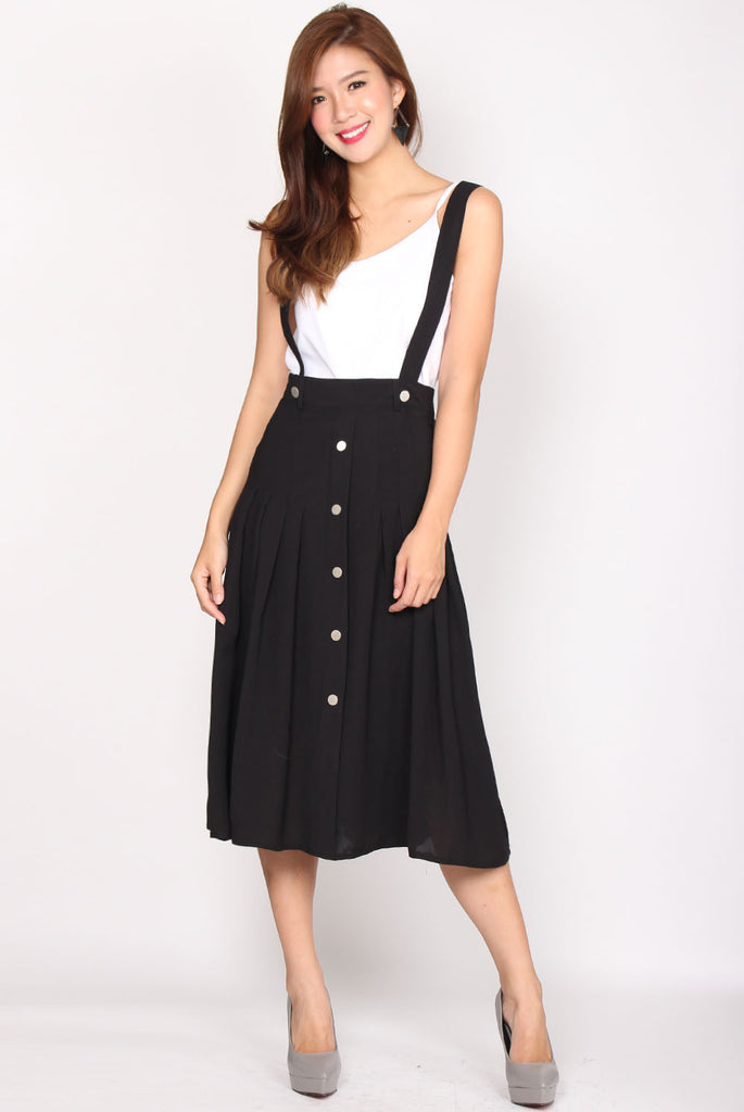 Tadeo Pinafore Skirt In Black
