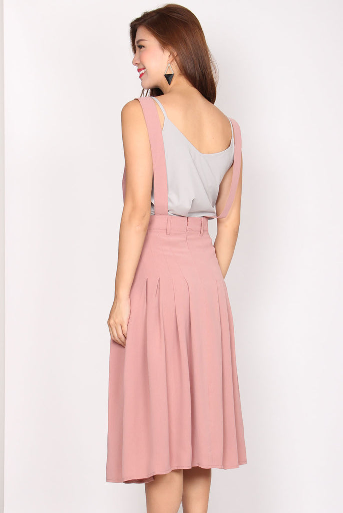 Tadeo Pinafore Skirt In Pink