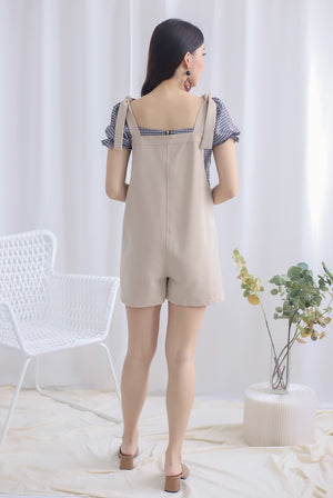 Talisea Pinafore Romper In Oats