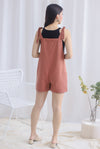Talisea Pinafore Romper In Tea Rose