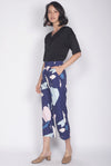 Tenzin Abstract Pants In Navy Blue
