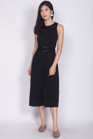 Townley Buckle Jumpsuit In Black